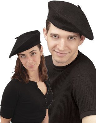 New Men's Women's Black French Beret Artist Costume Hat