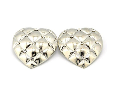Plain BOSS Stud Earrings in Silver-Tone