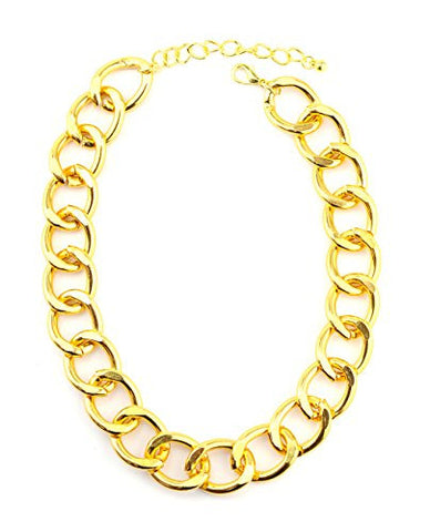Simple Metal Link Chain Necklace in Gold-Tone INC3023G