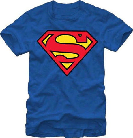Officially Licensed DC Comics Superman Classic Logo T-shirt Blue