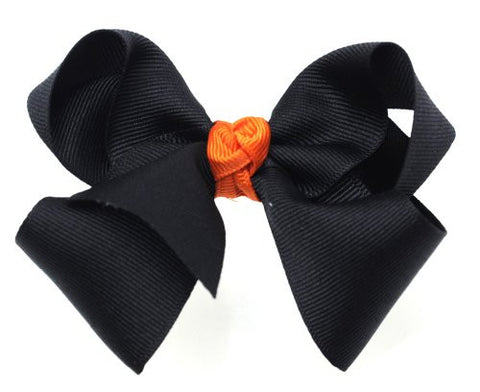 Halloween Style Grosgrain Ribbon Bow Handmade Hair Clip MADE IN USA BC1-2