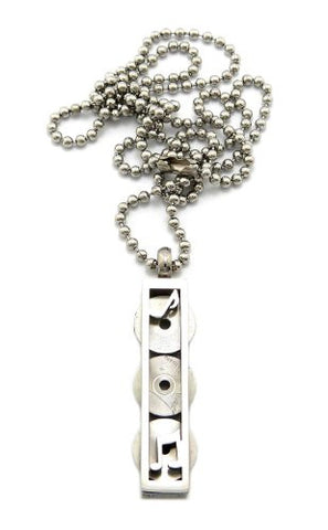3 Piece Record Disc Charm Necklace