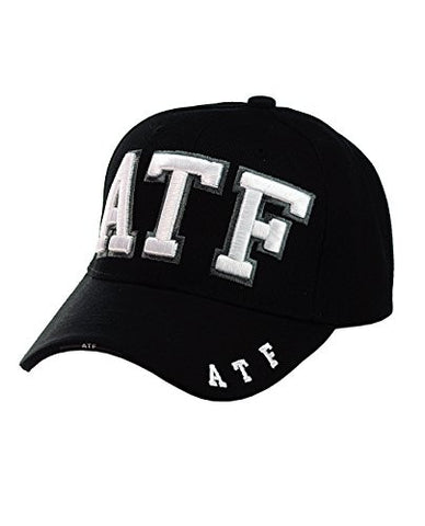 ATF Embroidered Adjustable Black Baseball Cap Hat