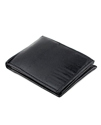 NYfashion101 Men's Bifold Single ID Passcase 13 Card Slot Genuine Leather Wallet