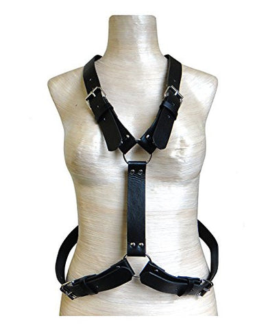 Sleek Daring Full Body Thick Strap Faux Leather Body Chain Body Accessory