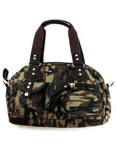 NYFashion101 Camouflauge Handbag/Shoulder Bag by Galian CAM04E - Green