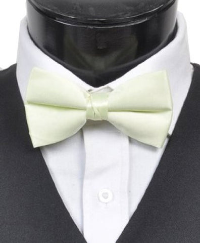 "Fabulous Men's 2.5"" Poly Satin Banded Bow Ties 29 Colors"
