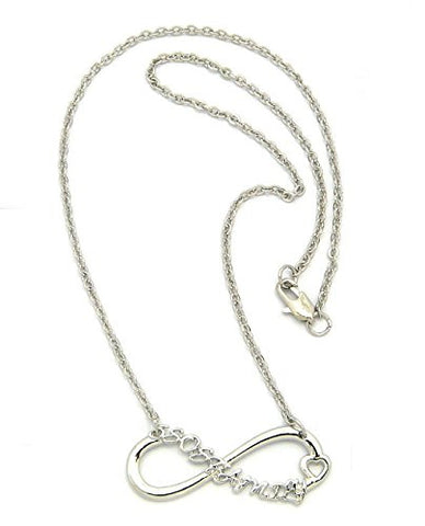 5er Family Fans Heart Infinity Loop Necklace
