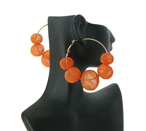 Mesh Ball Hoop Earrings