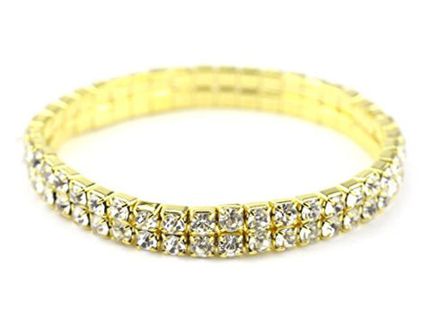 2 Row Rhinestone Stretch Bracelet