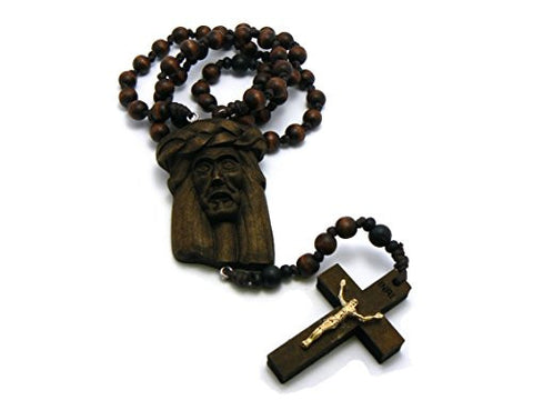 Jesus Face & Crucifix Cross Necklace