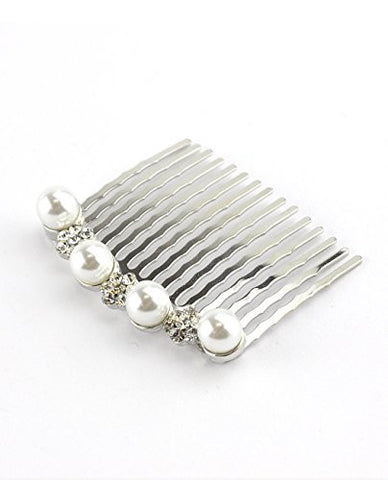 Women's Elegant Bridal Rhinestone Flower Pattern Hair Comb
