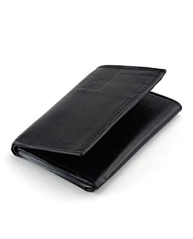 NYfashion101 Trifold Multi Windows Passcase 12 Card Slot Genuine Leather Wallet