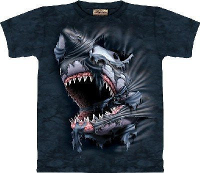 T-Shirt - Breakthrough Shark,Black,Size XXXL