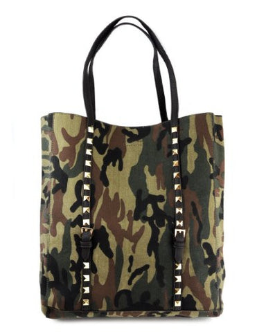 NYfashion101 (TM) Trendy Canvas Camouflage Handbag w/Golden Stud CAM05E
