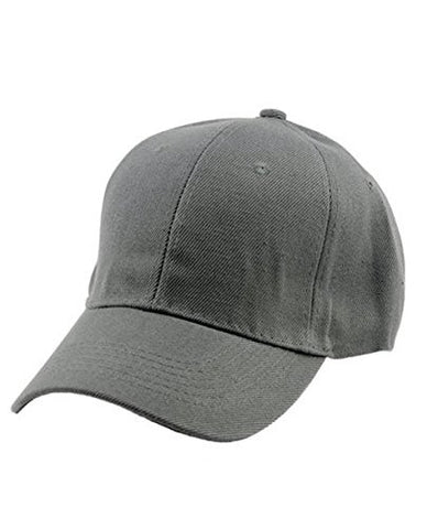 Men's Adjustable Plain Velcro Baseball Cap