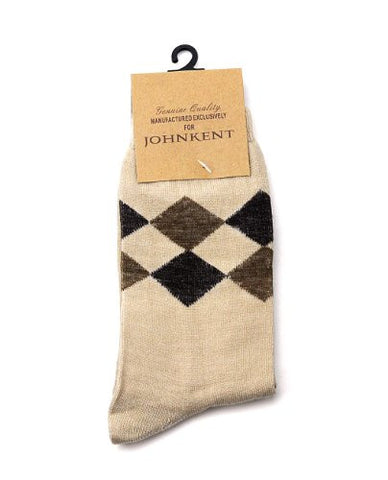 NYfashion101 Men's Casual Joint Diamond Print Socks By The Dozen