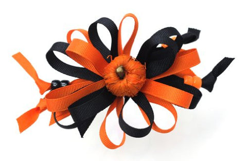 Halloween Style Pumpkin Handmade Hair Clip MADE IN USA BC3032-3