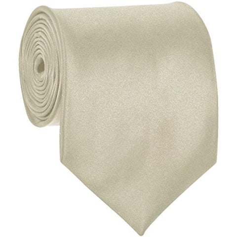 Mens Necktie SOLID Satin Neck Tie Cream 21
