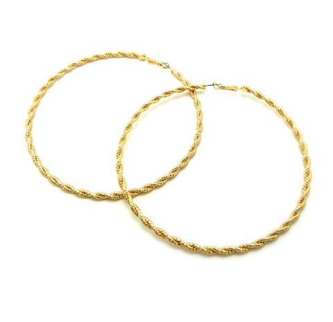 Unique Braid Style Hoop Earrings