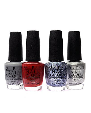 OPI Nail Polish 50 Fifty Shades of Grey 4-Pack F74+F75+F77+F78