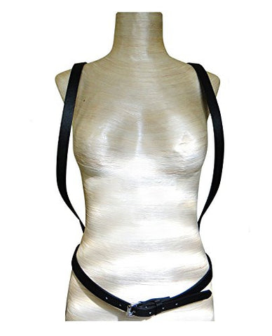 Front Shoulder Straps Back Multi Link Chain Waist Belt Faux Leather Body Chain Body Accessory
