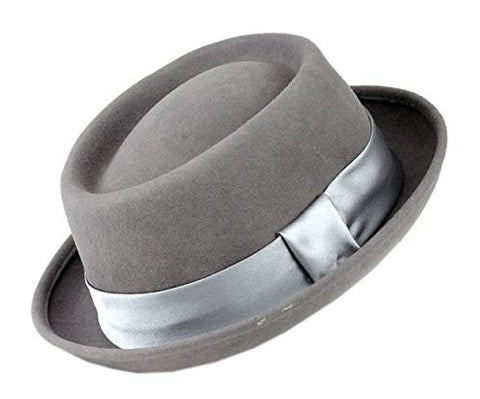 Mens Wool Felt Fedora Hat with Band HE15