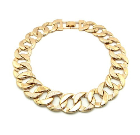 Rough Surface Thick Link Chain Fashion Necklace