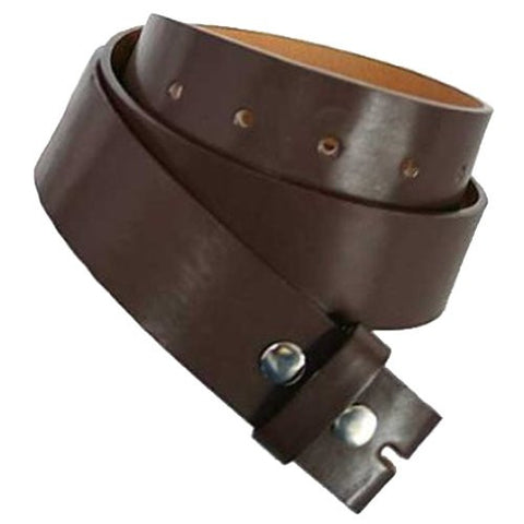 "Brown 1.5"" Wide Snap Removable Buckle Belt"