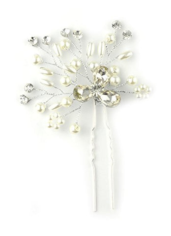 Stone Flower Branch Design Hair Stick for Women
