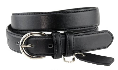 Nyfashion101 Women's Basic Leather Dressy Belt w/ Round Buckle H001-Black-M