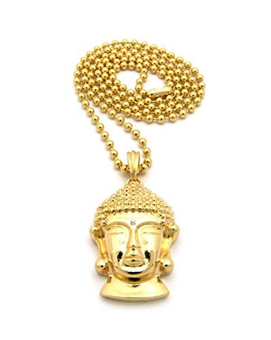 Buddhist Buddha Micro Pendant Ball Chain Necklace