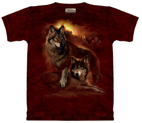 Wolf Sunset The Mountain Tee Shirt Size: Adult XXL