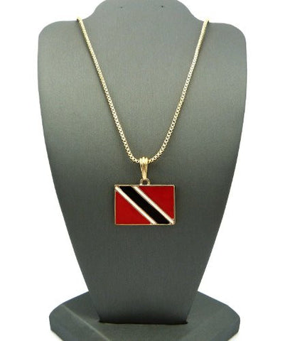image flag products gold necklace map plated pendant grande trinidad tobago and