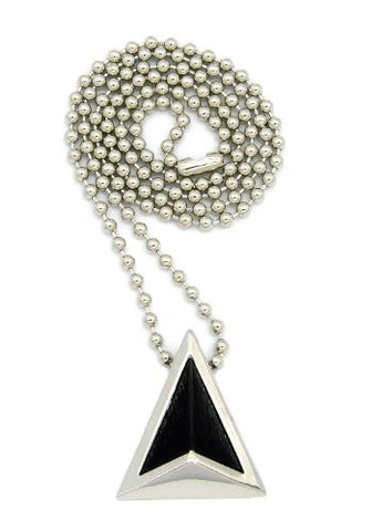 Celebrity Style Get Lucky Triangle Pendant Ball Chain Necklace