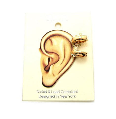 Solid 2 Ring Magnetic Ear Cuff in Gold-Tone