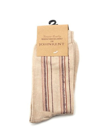 NYfashion101 Polyester Men's Casual Uniquely Lined Socks By The Dozen