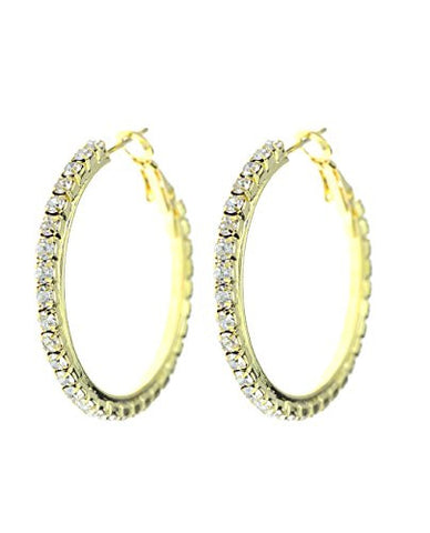 Rhinestone Pave Hoop Earrings