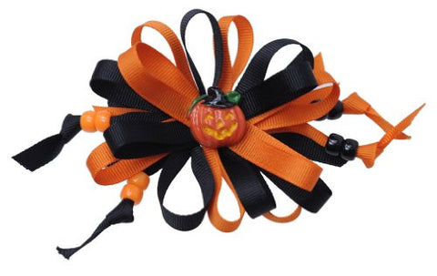 Halloween Style Pumpkin Handmade Hair Clip MADE IN USA BC3032-2