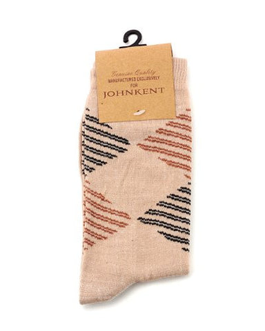 NYfashion101 Men's Casual Lined Rhombus Design Socks By The Dozen