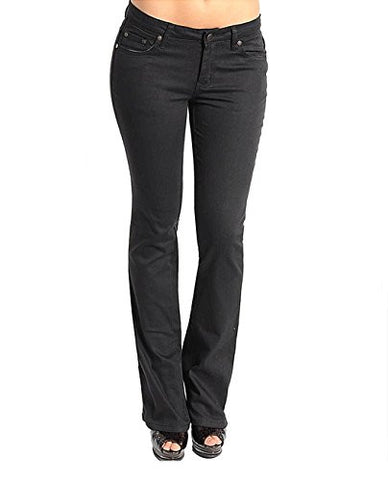 NYfashion101 Black Slim-Leg Pants