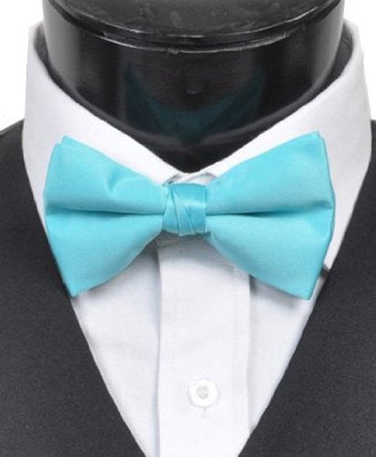 """Fabulous Men's 2.5"""" Poly Satin Banded Bow Ties 29 Colors"""
