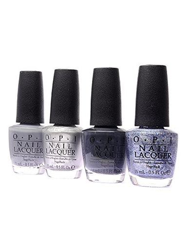 OPI Nail Polish 50 Fifty Shades of Grey 4 Pack F74+F76+F77+F78