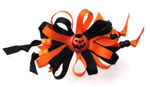 Halloween Style Pumpkin Handmade Hair Clip MADE IN USA BC3032-1