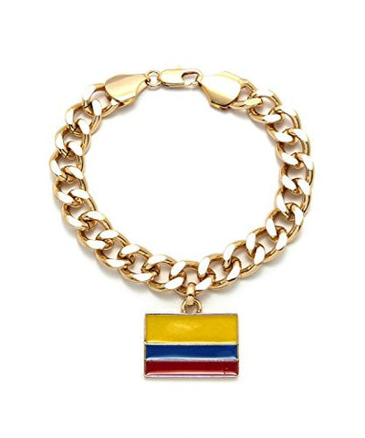 Columbia Flag Chain Bracelet