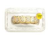 Hip Hop Rapper's Style Dental Grillz in Gold-Tone, FHL1C2G