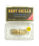Hip Hop Rapper's Style Dental Grillz Set in Gold-Tone, GL6G