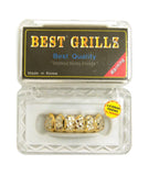 Hip Hop Rapper's Style Dental Grillz Set in Gold-Tone, GL5G