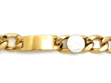 "Celebrity Style 24mm 8.75"" ID Cuban Link Chain Bracelet in Gold-Tone"