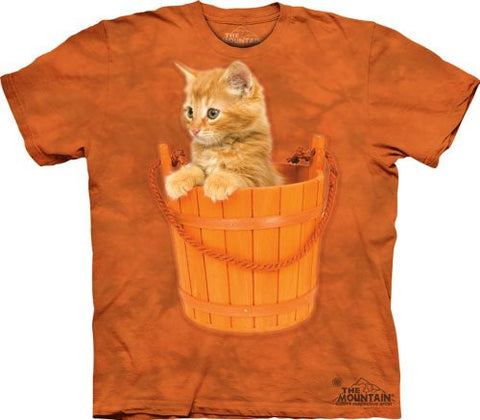 The Mountain Bucket Kitten Adult T-shirt L